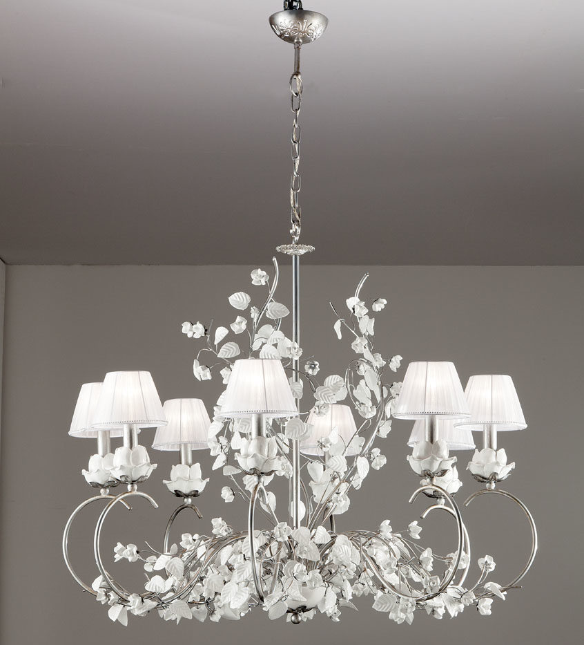 500178lp ceramic and iron chandelier with roses and leaves 500178lp ceramic and iron chandelier with roses and leaves arubaitofo Image collections